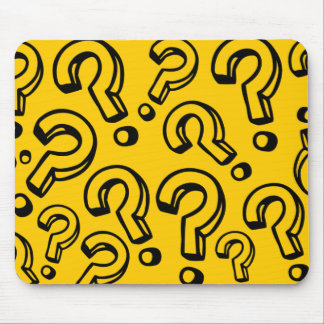 Question Marks Mouse Pad