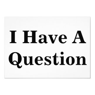 Question Sign Card