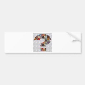 QUESTION Symbol Art GroupCARD NVN487 ChitChat FUN Bumper Sticker