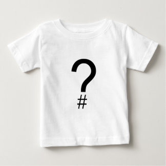 Question Tag/Hash Mark Baby T-Shirt
