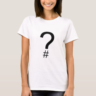 Question Tag/Hash Mark T-Shirt