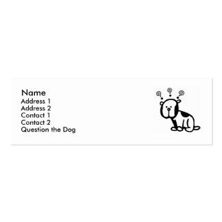 Question the Dog Profile Card! Mini Business Card
