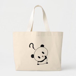 question time panda large tote bag