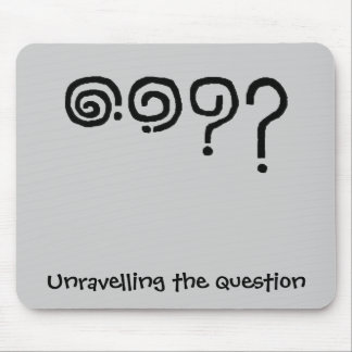 Question unravelled in clever simple design mouse pad