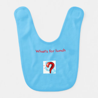 Question what's for lunch light blue bib