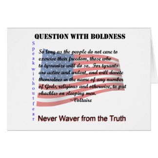 Question with Boldness Card