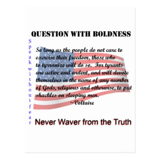 Question with Boldness Postcard