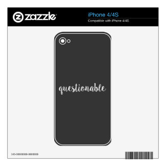 Questionable iPhone 4S Skins