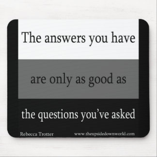 Questions and Answer Mouse Pad
