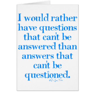 Questions and Answers Card