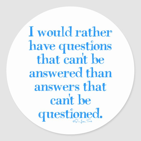 Questions and Answers Classic Round Sticker