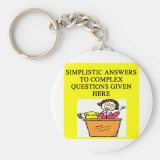 questions and answers joke keychain