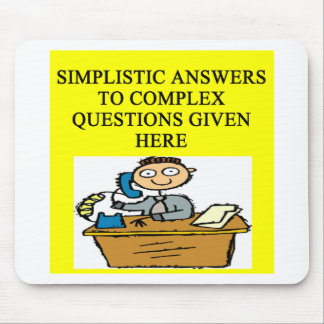 questions and answers joke mouse pad