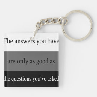 Questions and Answers Keychain
