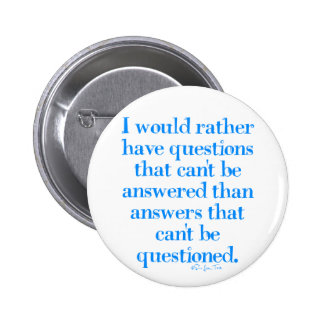 Questions and Answers Pinback Button