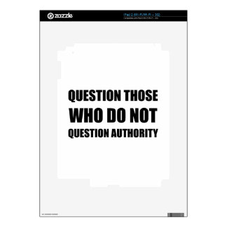 Questions Authority Decal For iPad 2