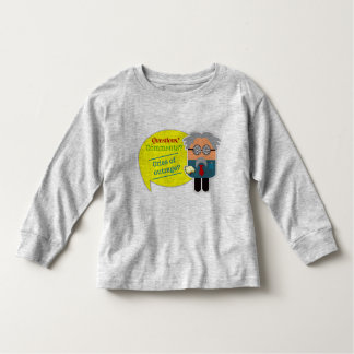 """Questions? Comments?"" Professor Kids Long Sleeve Toddler T-shirt"