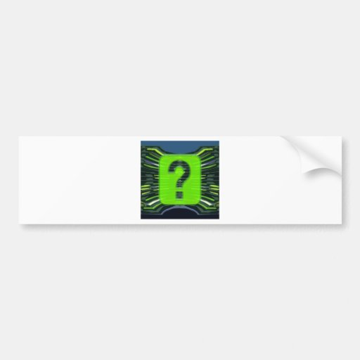 QUESTIONS environmental global warming NVN249 Bumper Stickers