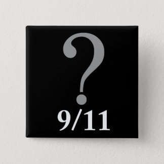 Questions Mark 9/11 Pinback Button