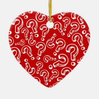 Questions Double-Sided Heart Ceramic Christmas Ornament