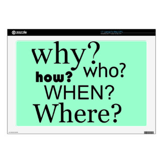"""Questions Questions Decals For 17"""" Laptops"""