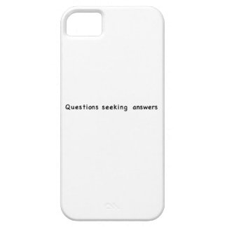Questions Seeking Answers iPhone 5 Cover