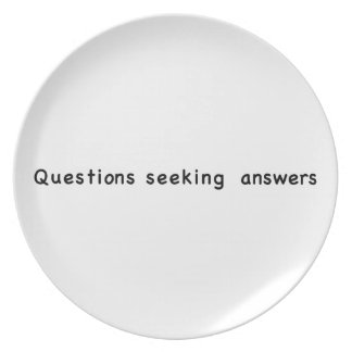 Questions Seeking Answers Party Plate
