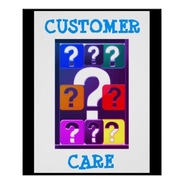 Professional Business Questions WELCOME Ask me more :  CUSTOMER SERVICE Poster