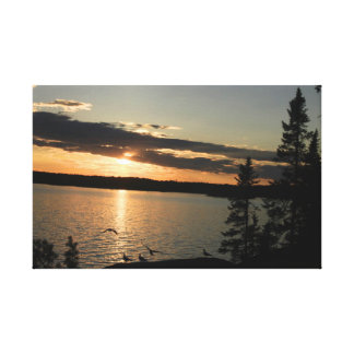 Quetico sunset Canvas