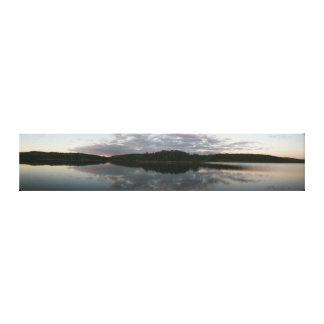 Quetico Sunset Panoramic Canvas Print
