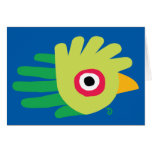 Hand shaped Quetzal card