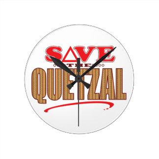 Quetzal Save Round Clock