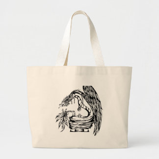 Quetzal Tribal Tattoo Design Tote Bag