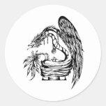 Quetzal Tribal Tattoo Design Classic Round Sticker