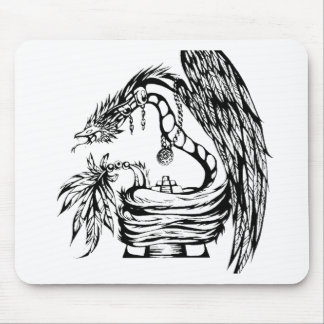 Quetzal Tribal Tattoo Design Mouse Pad