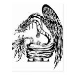 Quetzal Tribal Tattoo Design Postcard