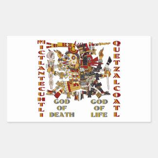 Quetzalcoatl and Mictlantecuhtli Rectangular Sticker