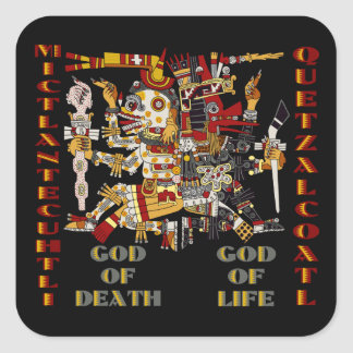 Quetzalcoatl and Mictlantecuhtli Square Sticker