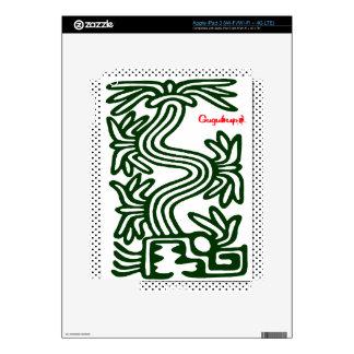 QUETZALCOATL AZTEC  SPIRIT 02 CUSTOMIZABLE PRODUCT DECAL FOR iPad 3