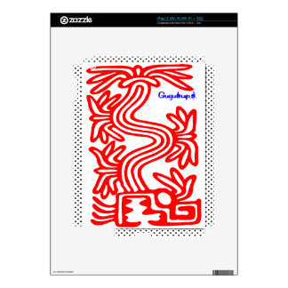 QUETZALCOATL AZTEC  SPIRIT 09 CUSTOMIZABLE PRODUCT DECALS FOR THE iPad 2