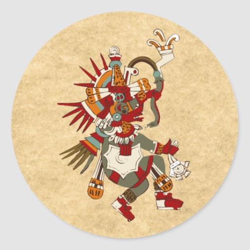 Quetzalcoatl Classic Round Sticker