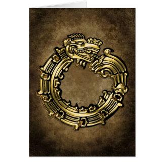 Quetzalcoatl de oro felicitaciones
