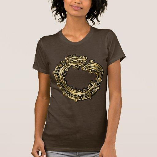 Quetzalcoatl de oro tee shirts