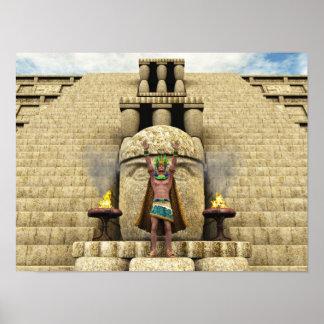 Quetzalcoatl Descending 001 Poster