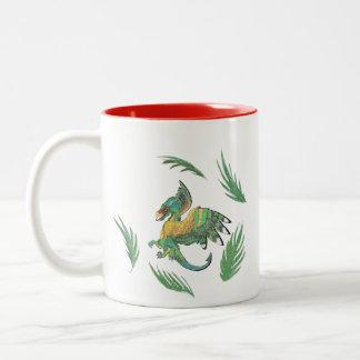 Quetzalcoatl Dragon Two-Tone Coffee Mug