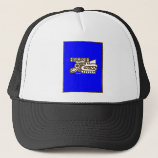 QUETZALCOATL DRCHOS.COM 45 CUSTOMIZABLE PRODUCTS TRUCKER HAT