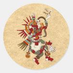 Quetzalcoatl Etiqueta Redonda