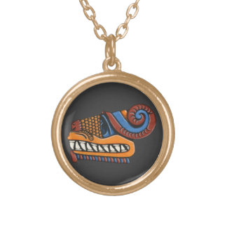 Quetzalcoatl Gold Plated Necklace