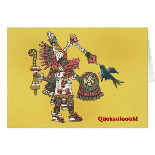 Quetzalcoatl greeting card