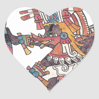 Quetzalcoatl Heart Sticker